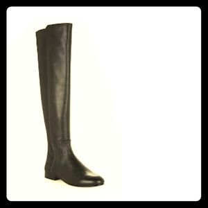 BCGC Over the knee black leather boot 10